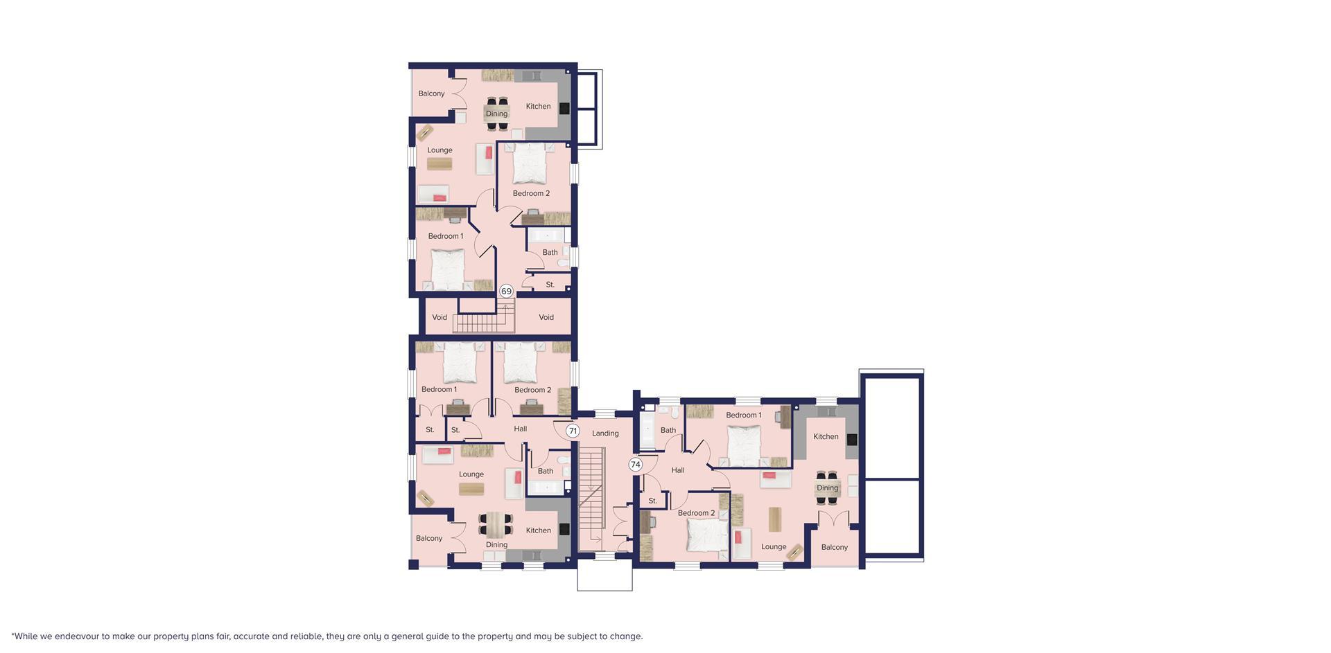 Kingfisher Grange, Bursledon_Floor plate_Plots 69,